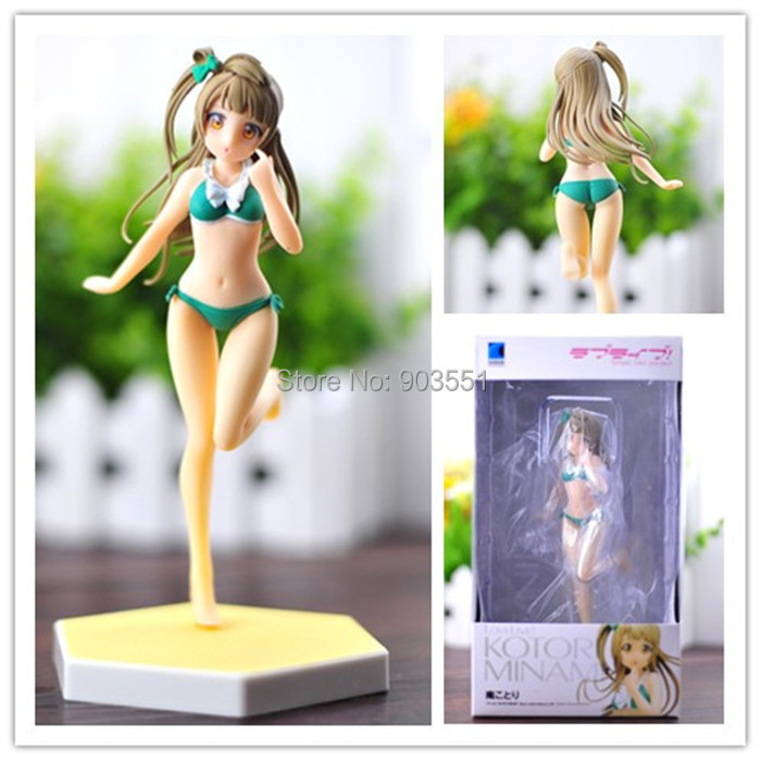 <font><b>Anime</b></font> Love Live Minami Kotori <font><b>Sexy</b></font> Swimsuit Ver. 1/10 PVC <font><b>Figure</b></font> Collection <font><b>Figure</b></font> Model Toy 16CM IN BOX Free Shipping image