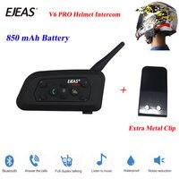 EJEAS 2018 1 Pcs V6 Pro 1200M Multi BT Interphone Wireless Motorcycle Bluetooth Casco Walkie Talkie