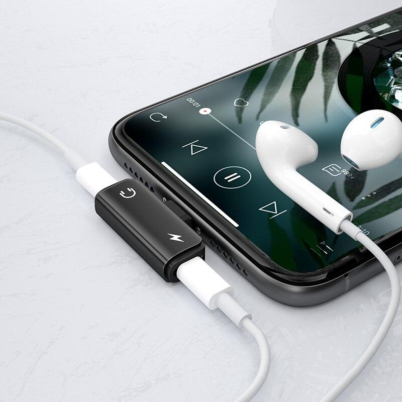 Adapter för iPhone XS Max XR 7 8 Plus En-till-två Prot bärbar - Reservdelar och tillbehör för mobiltelefoner - Foto 5