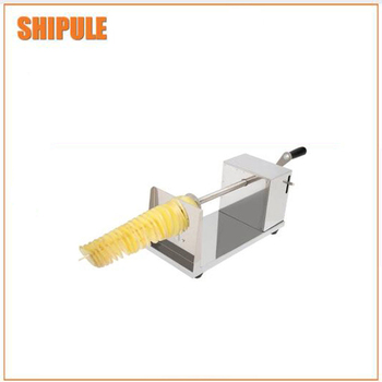 New designed potato tower making machine/electric spiral fry potato cutter