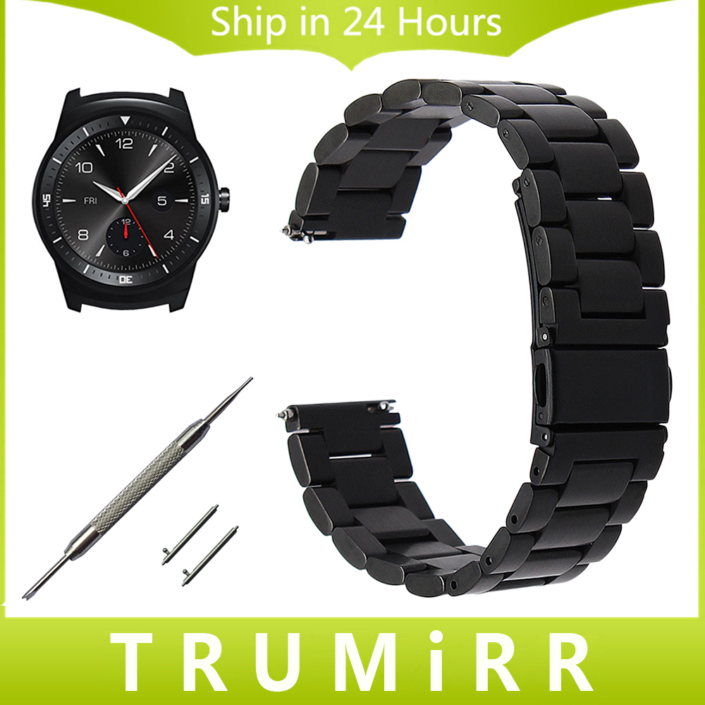 22mm Quick Release Stainless Steel Watchband for LG G Watch W100 R W110 Urbane W150 Replacement