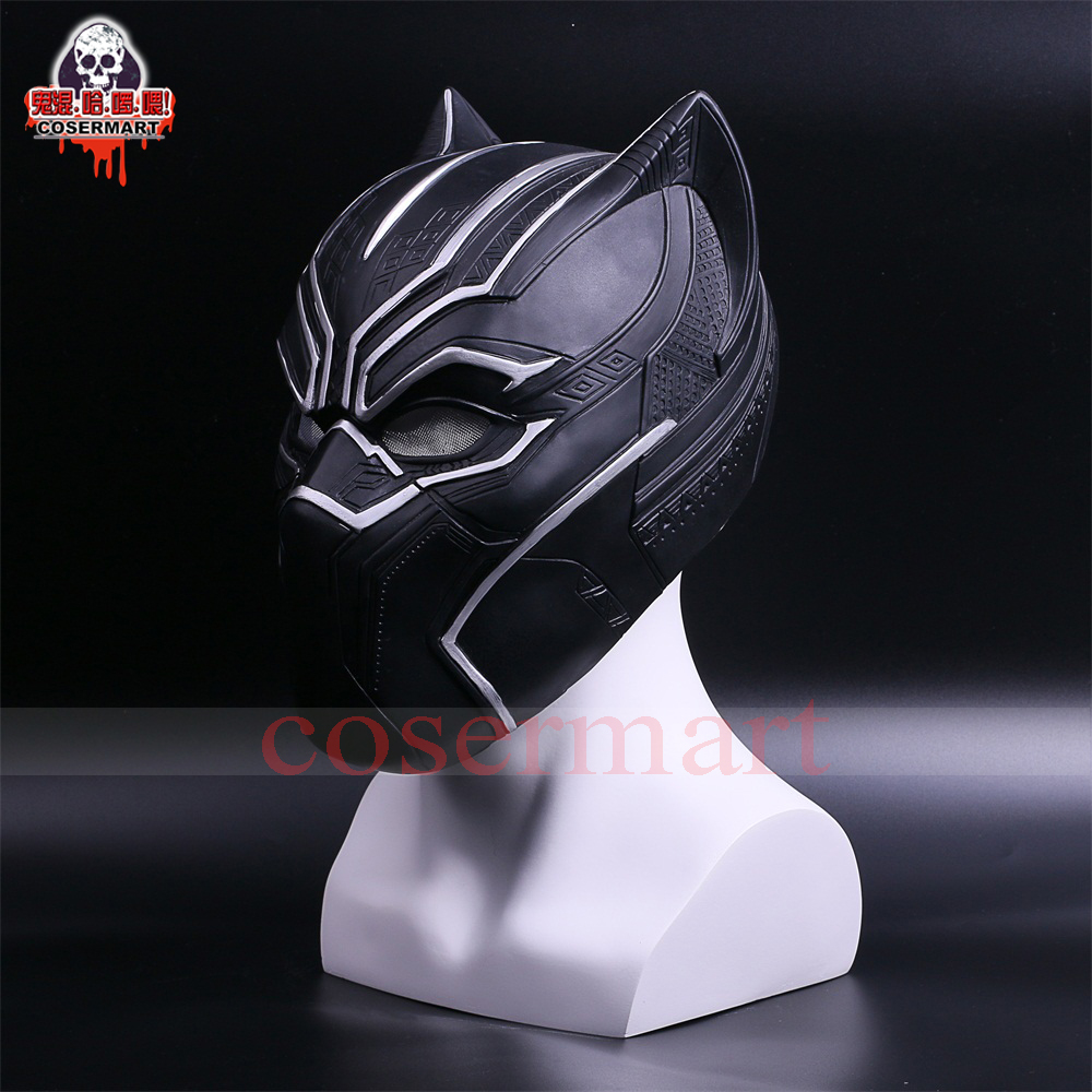 2017 New Captain America Helmet Black Panther Helmet  Civil War Cosplay Mask  Halloween Party Prop (6)