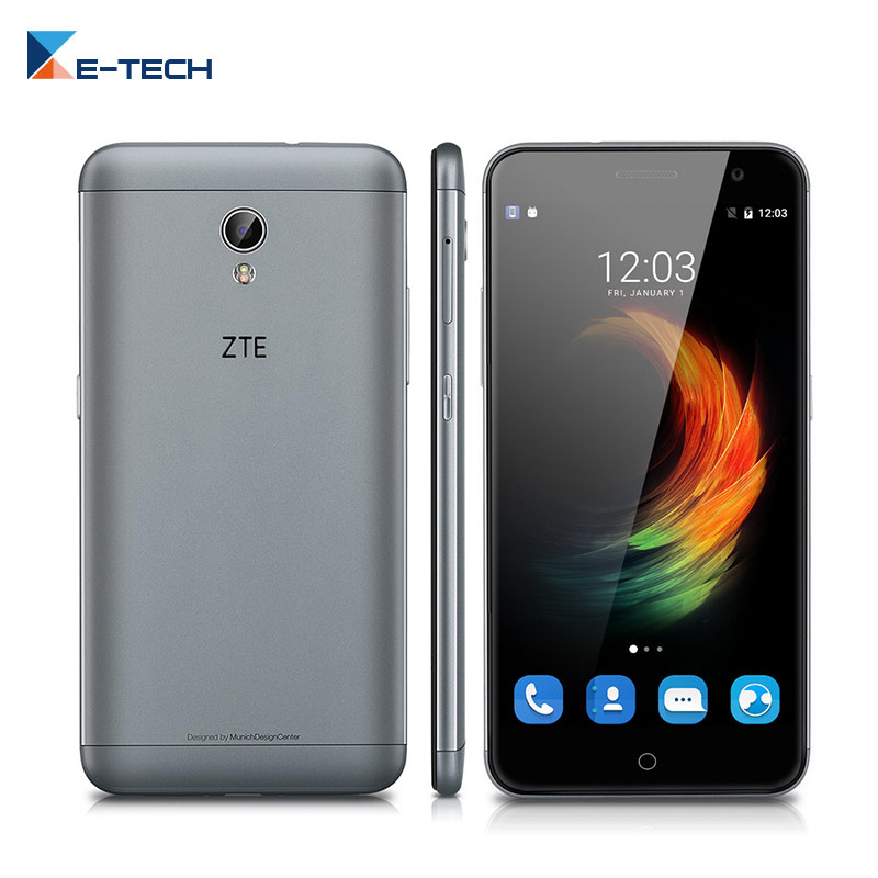 Цена за Zte blade v7 сотовый телефон mt6753 octa ядро dual sim 13mp мобильный телефон 2 Г RAM 16 Г ROM 5.2 дюймов 1920X1080 HD 4 Г FDD LTE смартфон