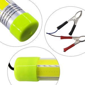 Image 4 - 10W/20W COB Underwater Fish Lure Light Night Fishing Attracting Lamp for 12V 24V Boat Ship with 6M Cable