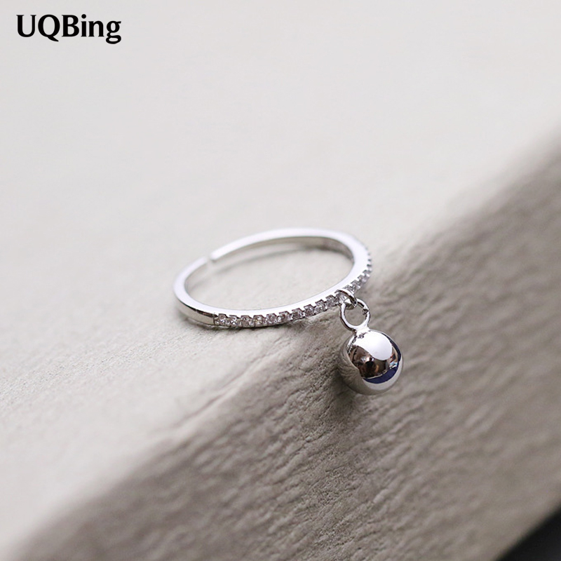 2016 New Arrival Fashion 925 Sterling Silver Ring With Silver Beads Rings For Women Party Gift Anel Prata Sale