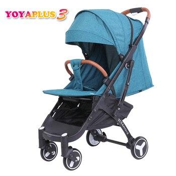 YOYAPLUS 3 детская прогулочная коляска складной зонт автомобиль может сидеть может лежать ультра-легкий портативный на самолете Россия Бесплат...