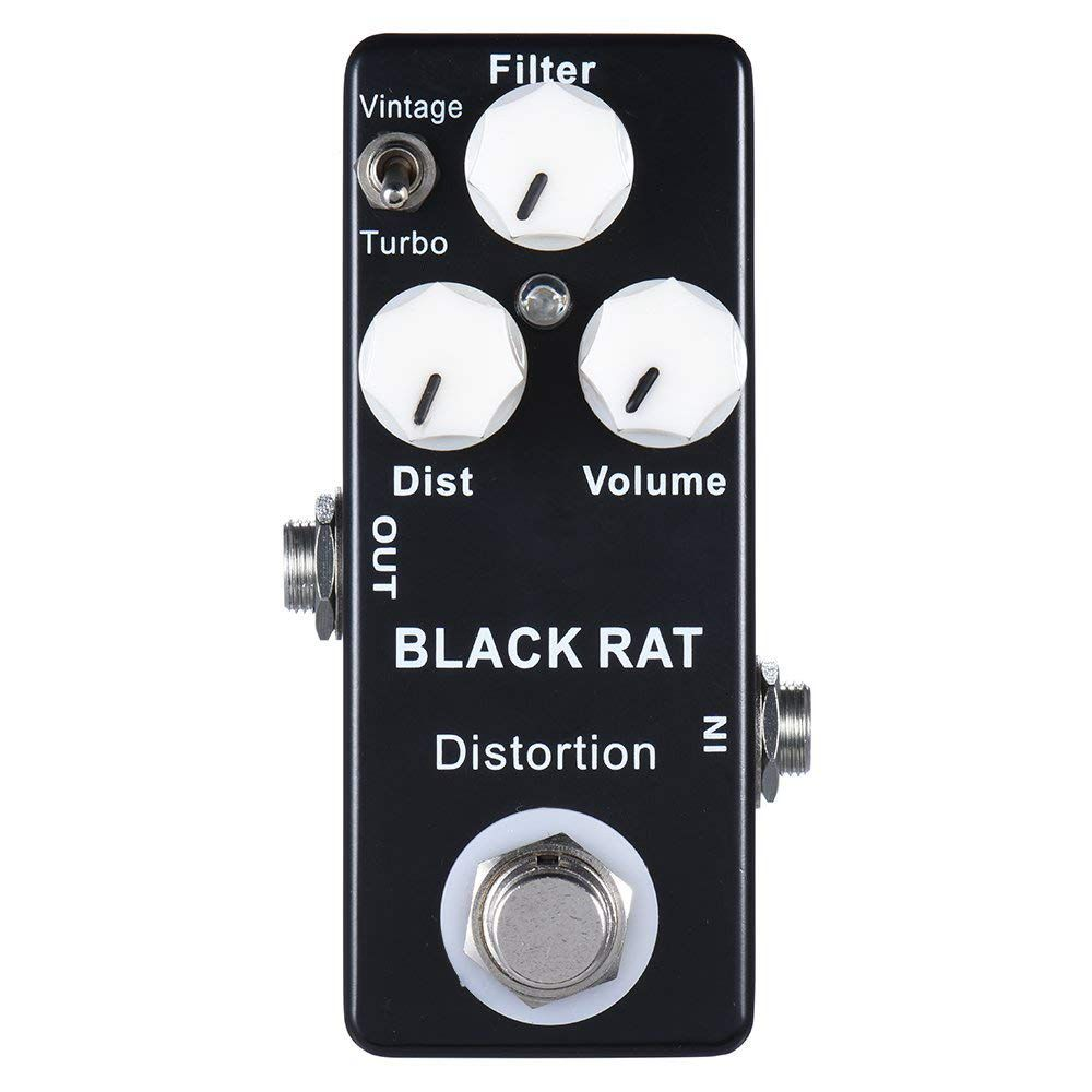 New Mosky Black RAT Distortion Mini Guitar Effect PedalNew Mosky Black RAT Distortion Mini Guitar Effect Pedal