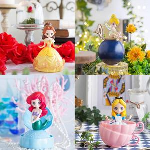 Image 5 - Action Disney Prinses Figuur Speelgoed 4 stks/set Mysterieuze Gashapon Prinses Alice ARIEL VERBLINDT BELLE Twisted Ei Speelgoed Meisjes Geschenken