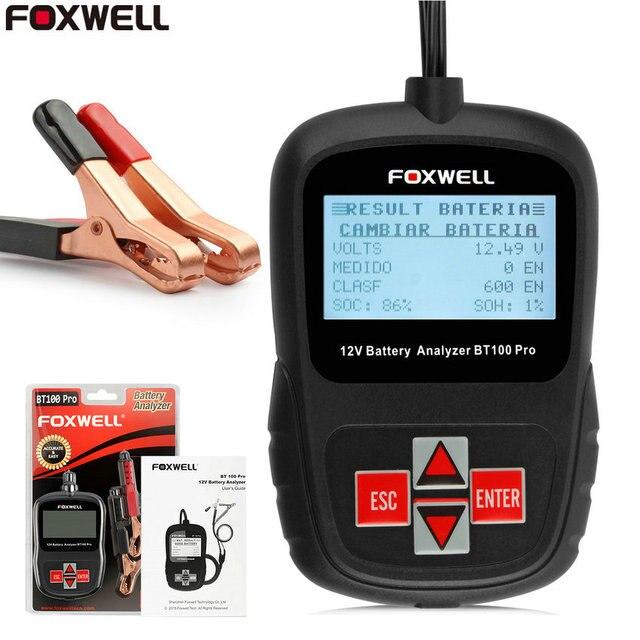 Foxwell BT100 100-1100 При Холодном Запуске Усилители 12 В Заряда батареи Тестер Портативный Дизайн Непосредственно Батареи Анализатор