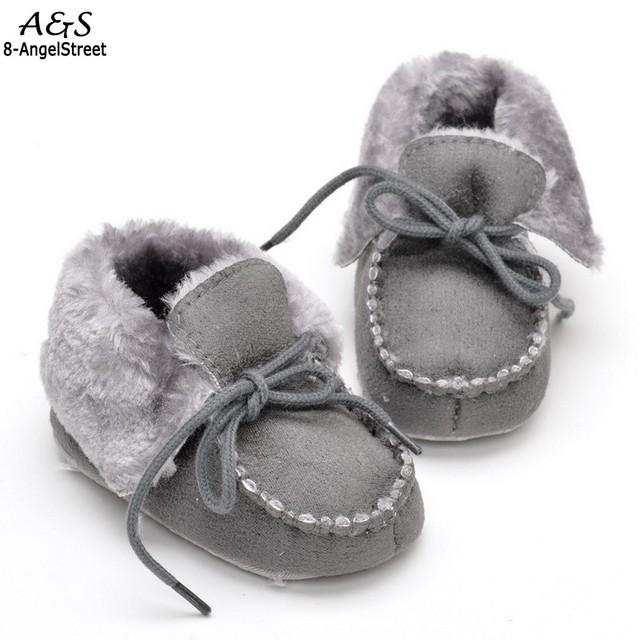 Bebé Infantil Niño Niña Zapatos Botas de Suela Blanda Toddler Primeros Caminante Moda Faux Suede Algodón del Otoño del Resorte
