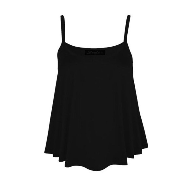 KLV Women New Plain Swing Vest Sleeveless Shirt Strappy Harness Solid Color Top Tee in T Shirts from Women 39 s Clothing