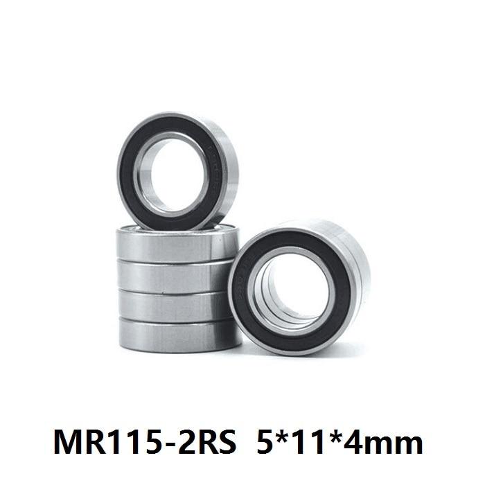 100pcs/500pcs MR115RS MR115-2RS MR115 RS 2RS 5x11x4 Mm Rubber Sealed Deep Groove Ball Bearing Miniature 5*11*4mm