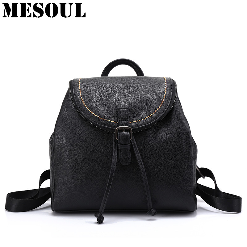 Women Backpacks Soft Genuine Leather School Backpack For Teenagers Girls Ladies Brand Travel Shoulder Bags New Arrivals bagpack 2016 new fashion backpacks genuine leather soft bags women girls rhombus tassels zipper schoolbag satchels bagpack shoulder bag