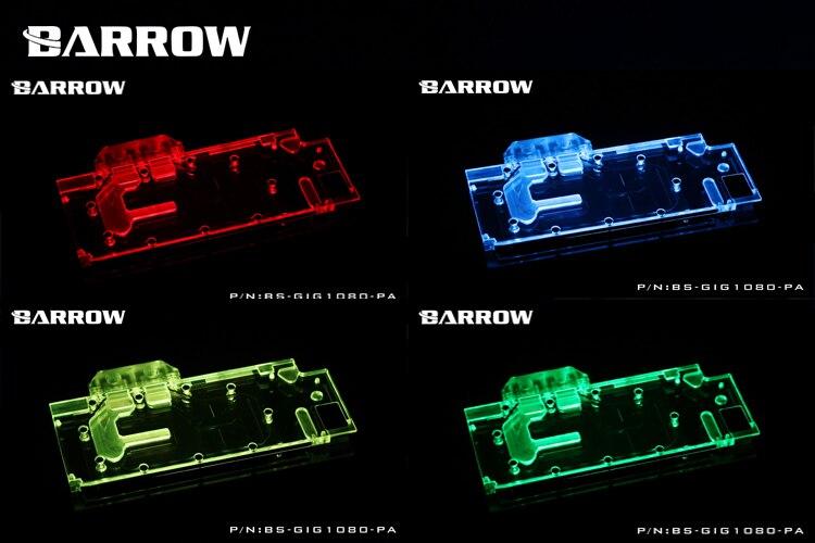 Купить с кэшбэком BARROW Full Cover Graphics Card Block use for GIGABYTE GTX1080/1070-G1-GAMING/ GV-N1080WF2 GPU Radiator LRC RGB BS-GIG1080-PA