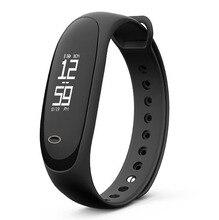 PLYSIN 2018 New Wrist Exercise Trackers Waterproof IP67 Sensible Bracelet with Coronary heart Charge Pedometer Energy Sleep Monitor Bracelet