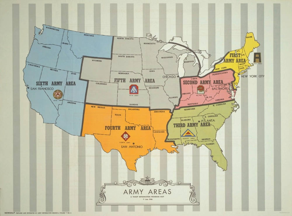 Infographic Map United States Army Illustration Classic Poster Canvas Painting Wall Posters Home Decor Gift image
