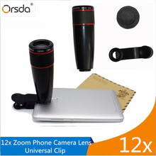 Buy online Orsda 12x Optical Zoom Lens Telescope Telephoto Phone Camera Lens Clip on Universal For iPhone Android Smartphone Camera Lenses