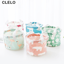 CLELO Cosmetic Bag Cartoon Animal Travel Organizer Basket with Handle Makeup Portable Toiletry Make Up Wash Kit Case