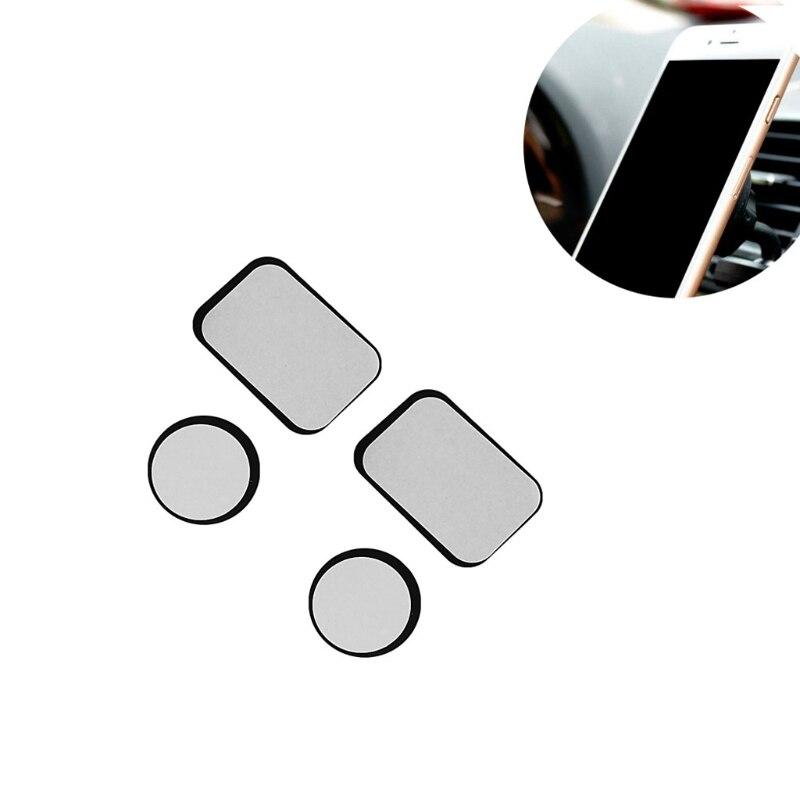 Ständer Unterhaltungselektronik Obligatorisch Ootdty 4x Ersetzen Metall Rechteckigen Runde Platte Aufkleber Für Magnetische Montieren Telefon Holder-m35 Rheuma Lindern