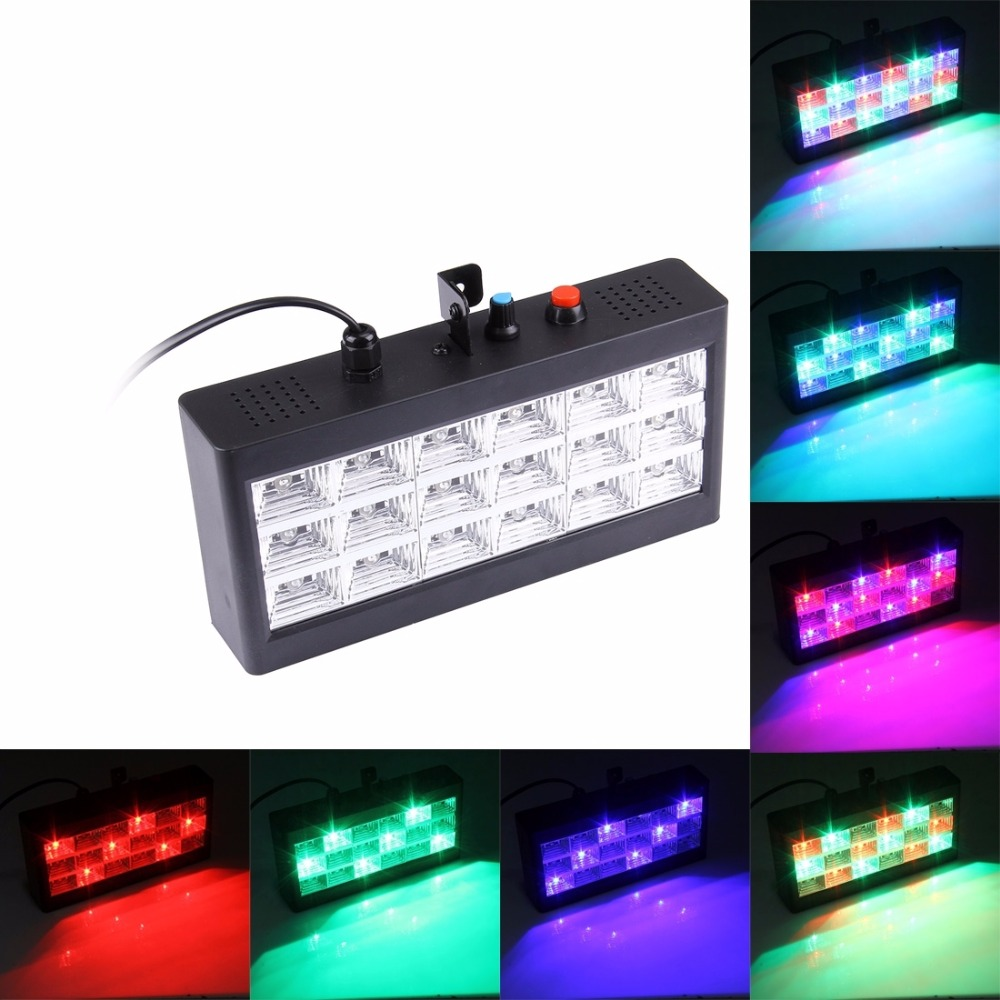 8w 48leds seven color sun pattern plastic stage lamp ac 90 240v - Sound Control Led Stage Light Strobe Stage Disco Light Laser Wedding Party Lamp Professional Stage Lighting