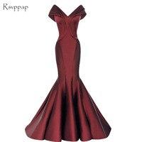 Long Prom Dresses 2018 Sexy Mermaid V neck Cap Sleeve Floor Length African Burgundy Prom Dress