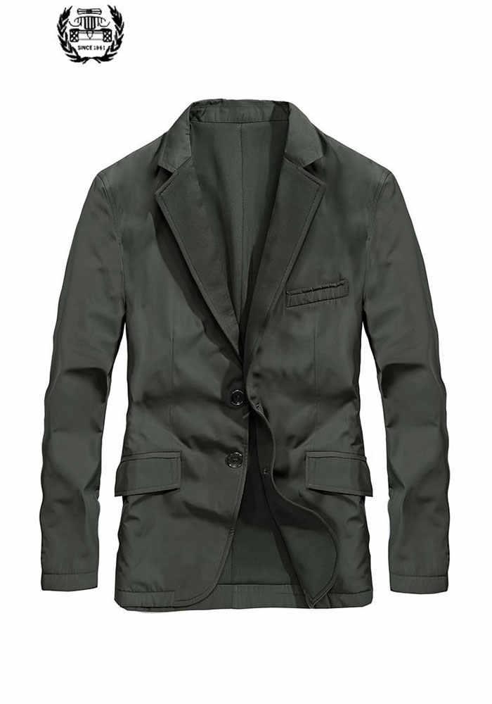 2019 חדש הגעה מותג בגדי גברים מעיל M ~ 3XL מעיל Slim Fit מקרית בלייזר מעיל מעילי בגדים ארוך שרוול מוצק צבע