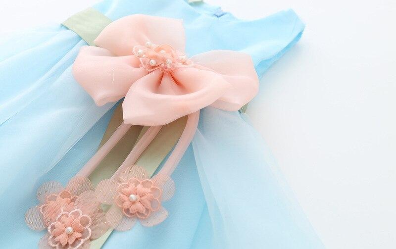 d766d6b847e43 Perle de luxe fleur arcs enfants vêtements bébé petites filles robe d été  enfants fête d anniversaire mariage princesse robe vert rose dans Robes de  Mère et ...
