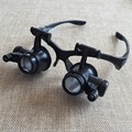 10X 15X 20X 25X Watch Repair Óculos Estilo Lupa Binocular Dental Lupas Com Luzes LED Óculos Lupa