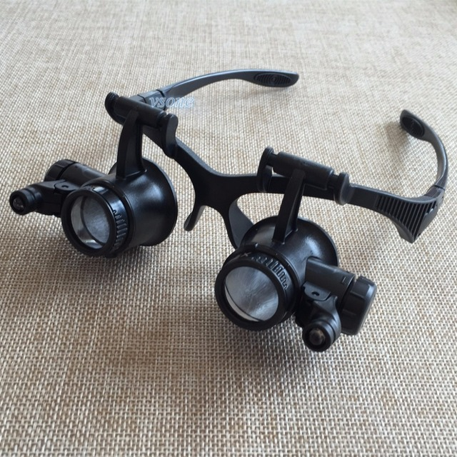 72be8ec4a3ff 10X 15X 20X 25X Watch Repair Dental Loupes Binocular Glasses Style Magnifying  Glass With LED Lights Eyewear Magnifier