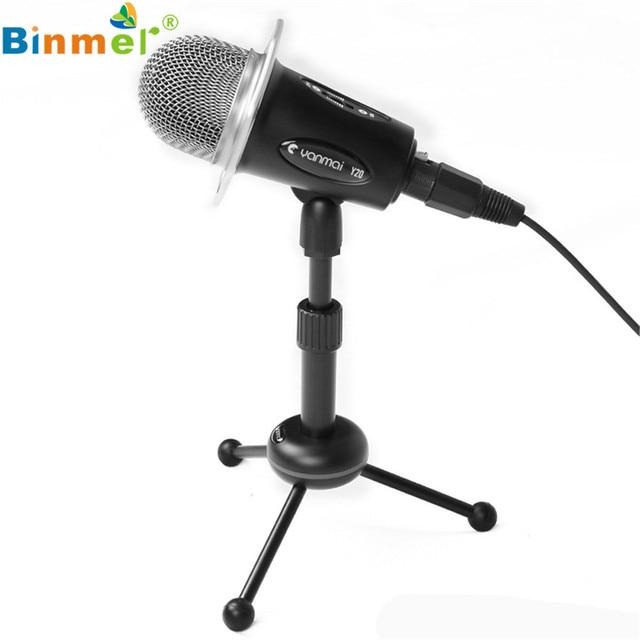 Hot Condenser Sound Recording Microphone Mic Stand PC Laptop  microfono Mikrofon microfono microfone OT25