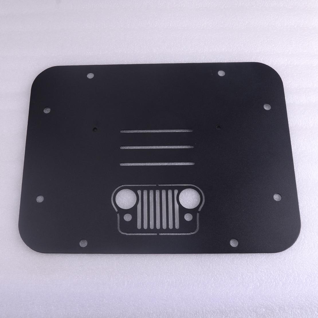 CITALL voiture noire Auto de rechange pneu transporteur supprimer plaque de remplissage Tramp timbre en acier adapté pour Jeep Wrangler JK JKU 2007 2018