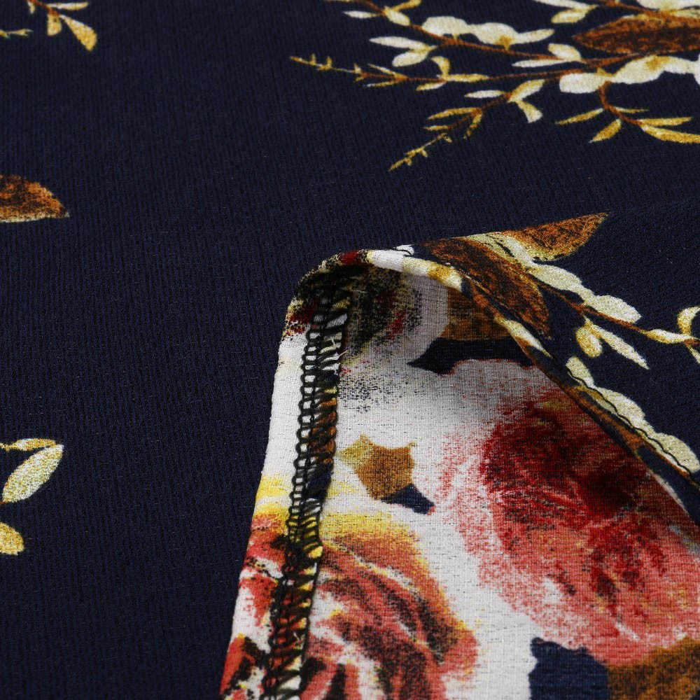 Womail Phụ Nữ Thời Trang Mùa Hè Cộng Với Kích Thước Ren Lạnh Vai Floral Printed T-Shirt Tops phụ nữ t-shirt 2019 dropship f1