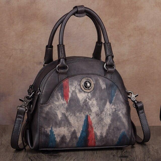 Γυναικεία τσάντα από γνήσιο δέρμα χειροποίητη