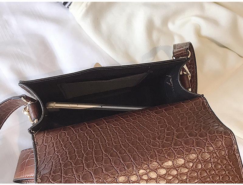DIINOVIVO Fashion Alligator Female Handbags Designer Crossbody Bags for Women Small Square Bag Shoulder Messenger Purse WHDV0917 22