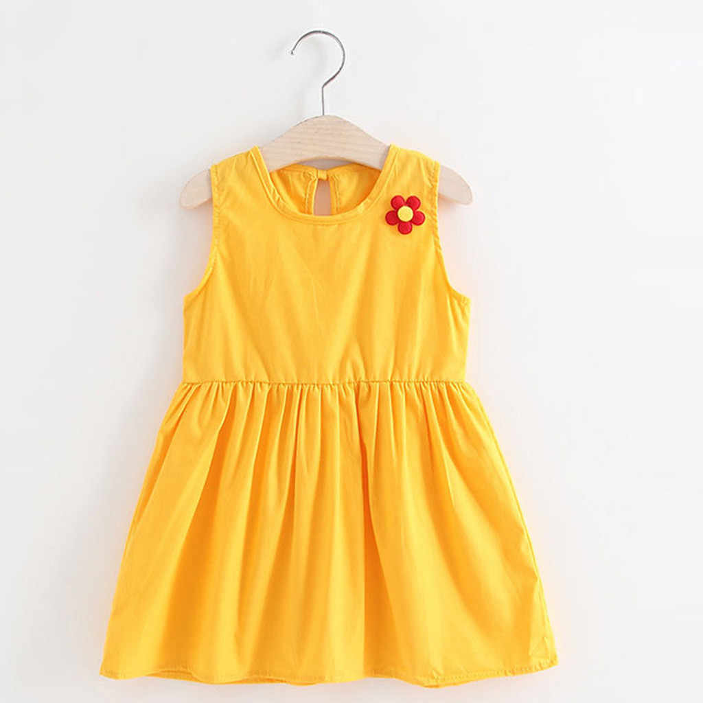2019 новое летнее платье ARLONEET, Сетчатое повседневное праздничное платье принцессы с цветочным принтом для маленьких девочек, сарафан, одежда, Z0205