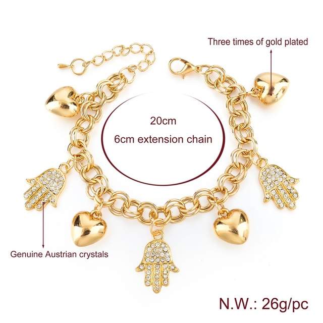 Фото toucheart сердце очаровательные хамса руки браслеты и для женщин