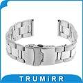 22mm Stainless Steel Watch Band Strap Bracelet for Asus Zenwatch 1 2 22mm LG G Watch W100 W110 Urbane W150 Pebble Time /  Steel