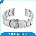 22mm de acero inoxidable reloj de pulsera correa de la venda para asus zenwatch 1 2 22mm lg g watch w100 w110 urbane w150 pebble tiempo/acero