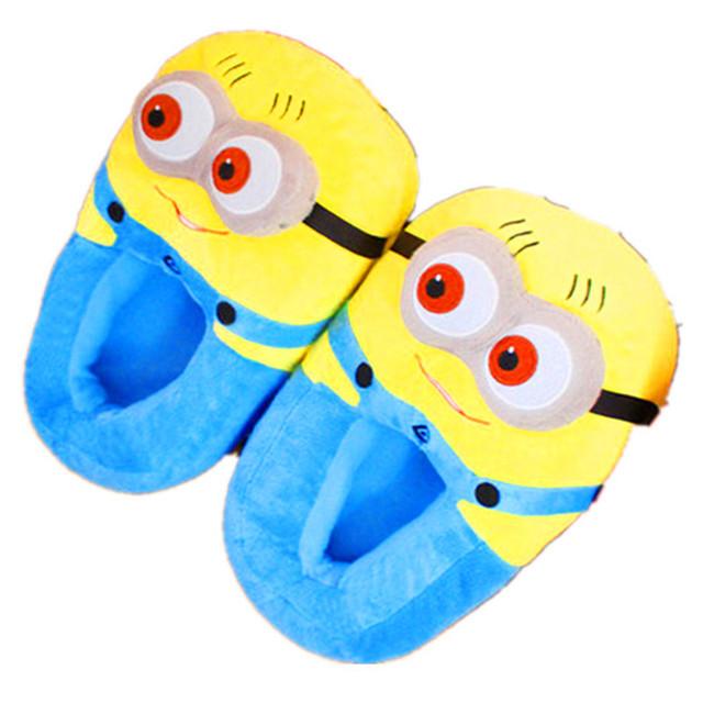 Minions Zapatillas de Invierno En Casa Zapatillas de Algodón Zapatos de la Felpa Empuje TCCS6068