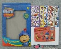 Trasporto Libero Il Cavaliere sticker album riutilizzabile notebook gioco giochi per bambini di Apprendimento giocattolo Educativo Mik regali di natale