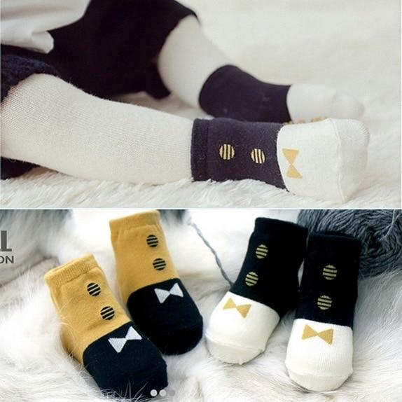 Fashion Korean Style Winter Tie Socks New Babies And Children Warm Cotton Sock
