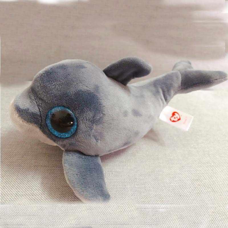 7aabca8b295 ... TY 6   15CM Beanie Boos Echo Grey Dolphin Unicorn Bat Cat Plush Stuffed  Doll ...