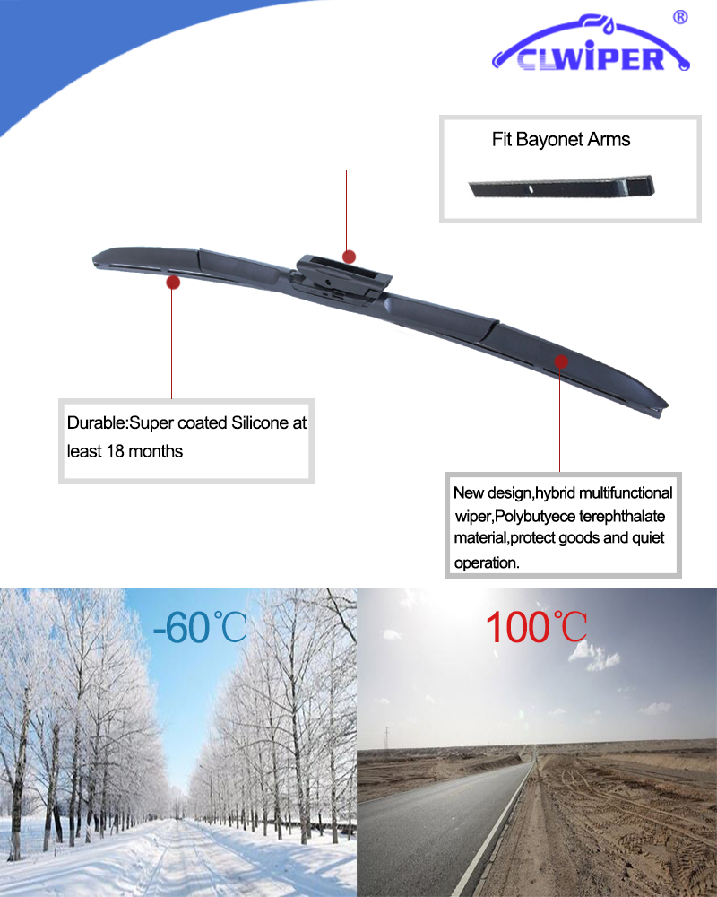 Clwiper Super Coated Silicone Windshield Wiper Blade For Renault Fluence Fuse Box 819 B3