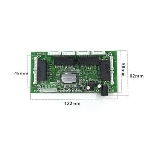 Image 2 - OEM PBC 8Port Gigabit Ethernet Switch 8Port with 8 pin way header 10/100/1000m Hub 8way power pin Pcb board OEM screw hole