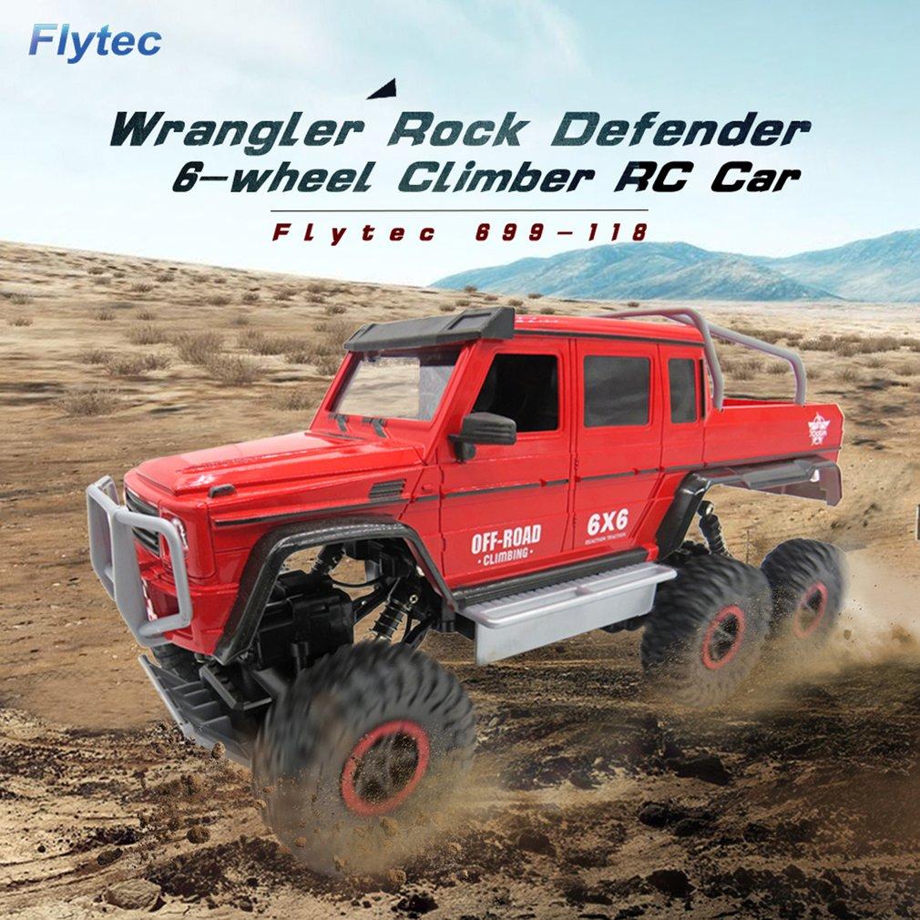 HOT Flytec 699-118 1/12 échelle 2.4 Ghz 6WD haute vitesse RC chenille grimpeur Buggy tout-terrain Rock électrique RC télécommande voiture RTR