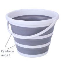 Складное ведро для воды с усиленным кольцом для кемпинга, кухни, рыболовных бочек, складное ведро, Складная Ванна, автомойка