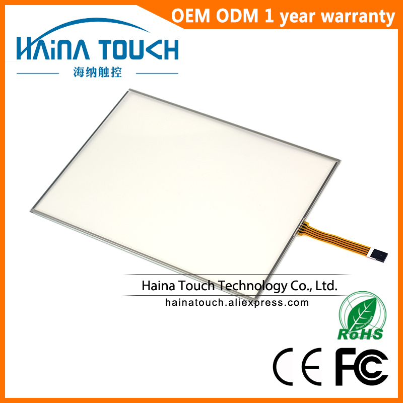 5 wire 12 Inch Resistive Touch Screen Panel Industrial Touch Screen Overlay Kit Win10 Compatible