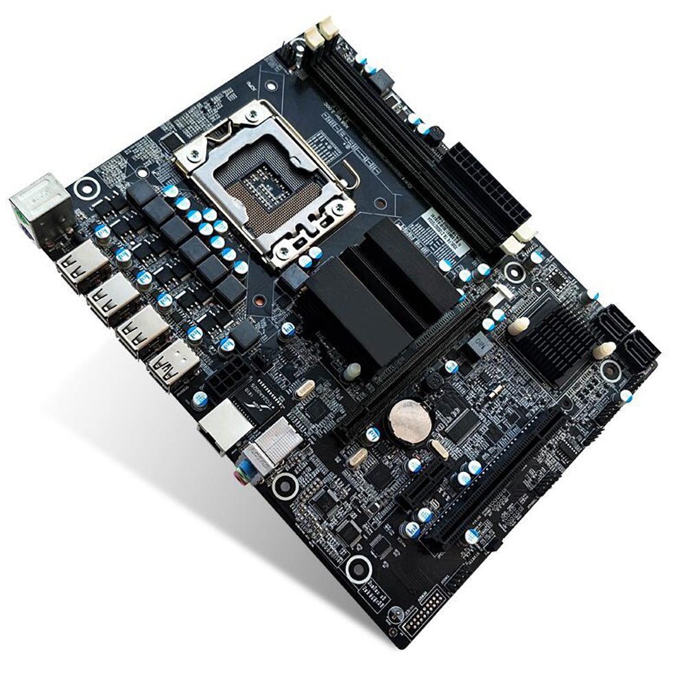 X58 Desktop Motherboard Lga 1366 2-Channels Ddr3 32Gb Ram M-Sata Mainboard For Intel x5650 <font><b>x5670</b></font> Core I7 image