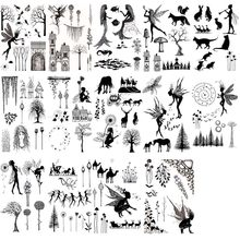 Fairies tree branch mermaid fish Transparent Clear Stamps for DIY scrapbooking/photo album Cutting Crafts Stencil stamp set(China)
