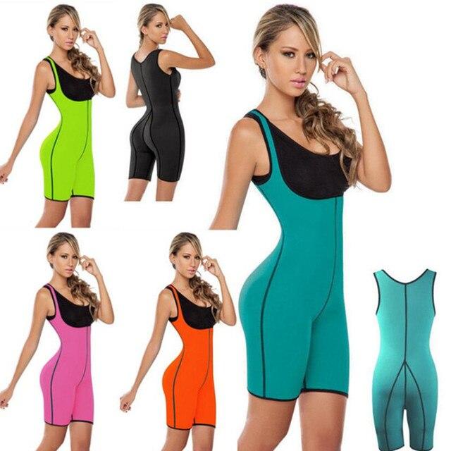0112ef948 NEW Hot Shapers Bodysuit Sauna Suit Waist Trainer Corsets Neoprene Body  Shaper Women Slimming Full Shape Underwear Shapewear